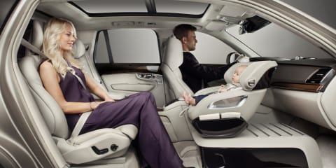 Volvo Excellence baby seat and recliner seats could make it to production