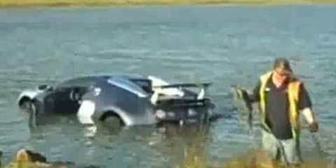 Video: Bugatti Veyron plunges into lagoon in the US