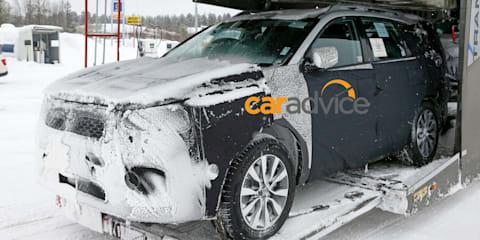2018 Kia Sorento facelift spied
