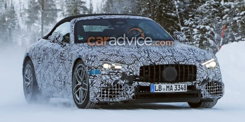 2022 Mercedes-Benz SL spy photos reveal V8 engine, S-Class interior