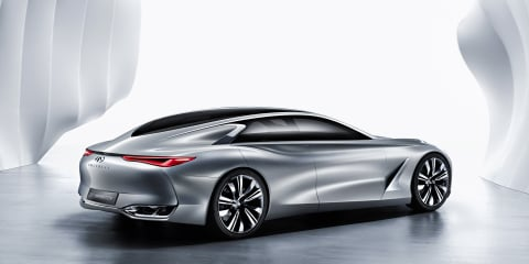 Infiniti Q80 Inspiration concept car revealed from the rear