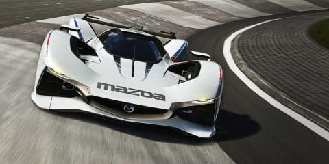 Mazda LM55 Vision Gran Turismo : futuristic Le Mans-style racing concept revealed