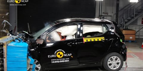 Euro NCAP crash tests: Hyundai i10 scores four stars, Mercedes-Benz C-Class achieves five stars