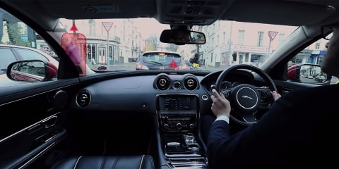 Jaguar Land Rover previews transparent pillar, ghost car navigation research