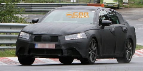2012 Lexus GS spied on the Nurburgring for the first time