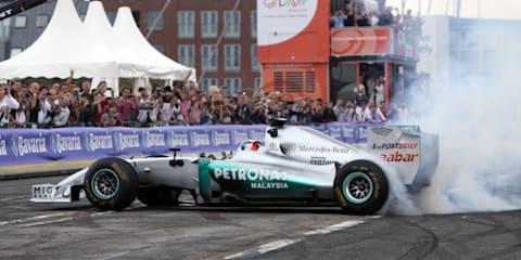 Nico Rosberg takes Mercedes F1 to Rotterdam