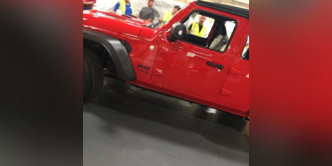2018 Jeep Wrangler Unlimited leaked undisguised from factory floor