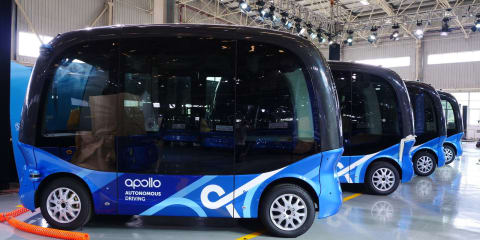 Chinese search engine launching self-driving bus