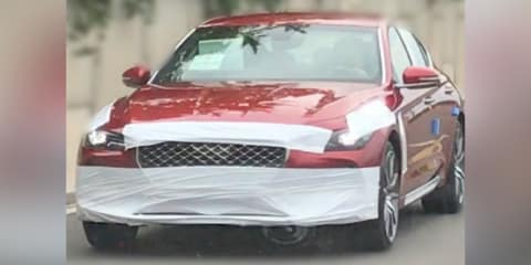 2018 Genesis G70 spied almost disguise free
