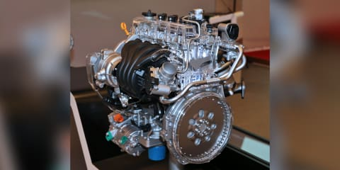 Hyundai unveils new GDI engine for hybrids, eight-speed automatic