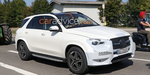 2019 Mercedes-Benz GLE spied almost camouflage-free