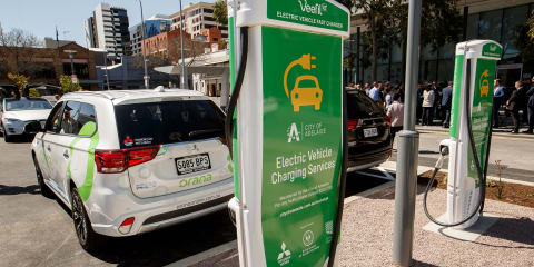 Mitsubishi rolls out EV charging stations in Adelaide CBD