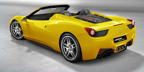 Ferrari 458 Spider to get metal folding roof: report