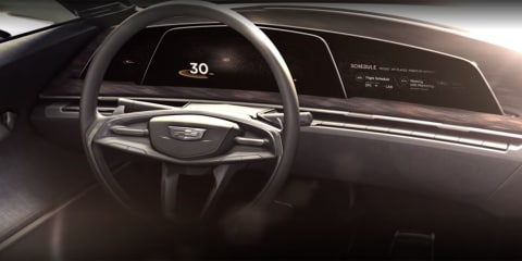 Cadillac teases concept car interior with curved OLED displays