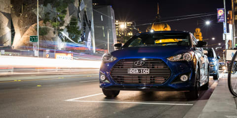Late-night eats in the 2016 Hyundai Veloster Street Turbo