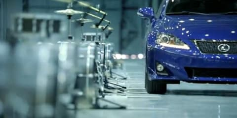 Video: 2011 Lexus IS250 plays drums in new advertisement