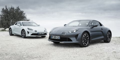 Alpine A110 Legende and Pure headed for Geneva