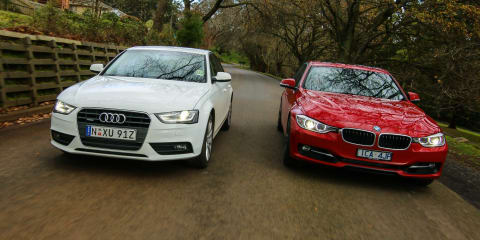 Luxury Sedan Comparison Round One Audi A4 V Bmw 3 Series Photos