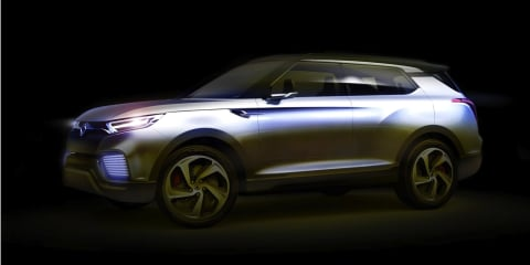 Ssangyong XLV concept : seven-seat diesel-hybrid SUV teased