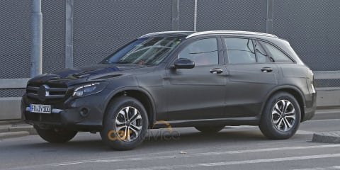 Mercedes-Benz GLC spied almost camouflage free