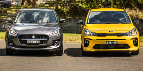 Small hatch review: 2020 Kia Rio v Suzuki Swift comparison