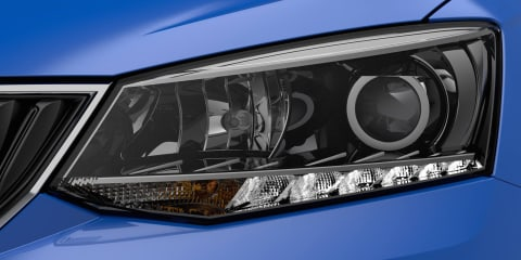 2015 Skoda Fabia headlight teased