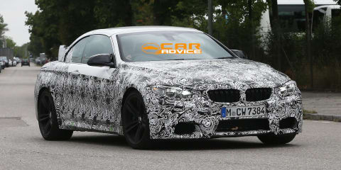 BMW M4 Convertible spied for first time, Coupe in light camouflage