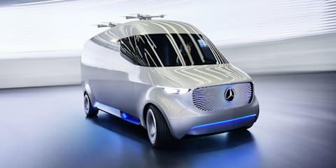 Mercedes-Benz Vision Van:: EV concept debuts with delivery drones