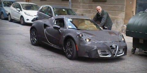 Alfa Romeo 4C prototype spotted