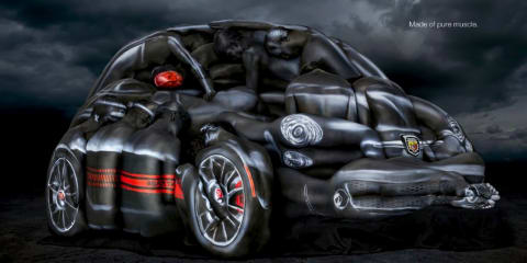 Fiat 500 Abarth Cabrio built from body art