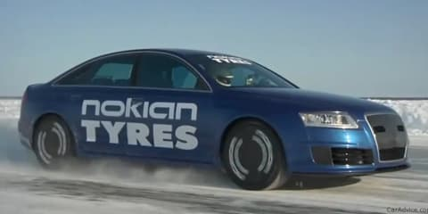 Audi RS6 with Nokian tyres breaks Bentley ice speed record