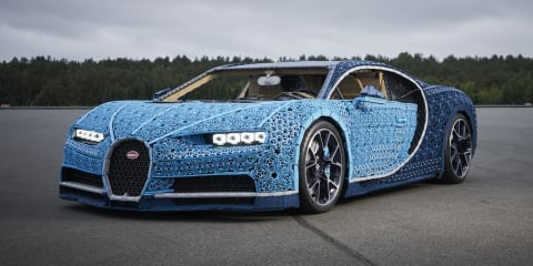 Full-scale Lego Bugatti Chiron can actually be driven