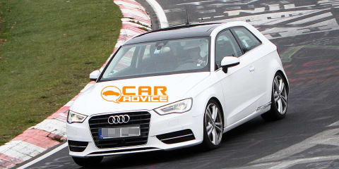 Audi S3 hot-hatch spied