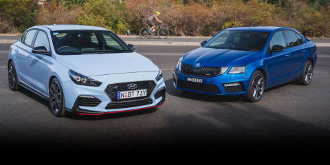 2019 Hyundai i30 Fastback N v Skoda Octavia RS Sedan comparison