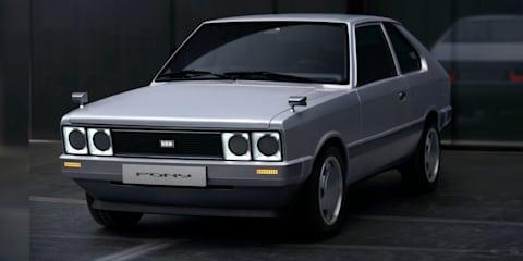Hyundai Pony Heritage Series: Electric restomod concept revealed