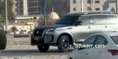2022 Nissan Patrol Nismo spied undisguised