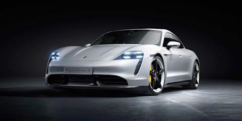 Track test: Porsche Taycan electric car versus BMW M8 Gran Coupe
