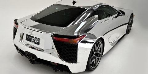 Lexus LFA: Queensland owner wraps $700,000 supercar in chrome