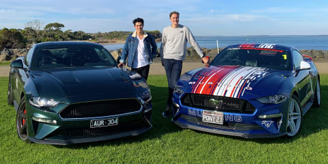Driving against depression in a couple of very special Ford Mustangs