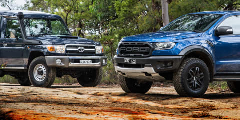 2019 Ford Ranger Raptor v Toyota LandCruiser 78 Series GXL comparison