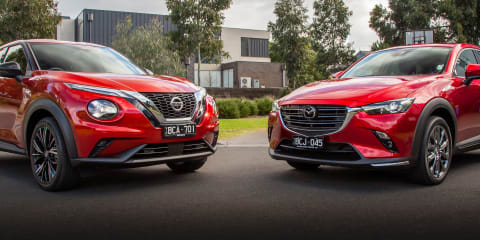 Video: 2020 Nissan Juke v Mazda CX-3 comparison review