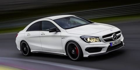 Mercedes-Benz CLA45 AMG: 265kW four-door coupe debuts in New York