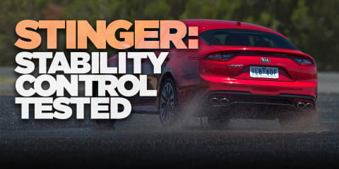 2018 Kia Stinger: Traction control test