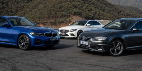 2019 BMW 330i v Audi A4 45 v Mercedes-Benz C300 comparison
