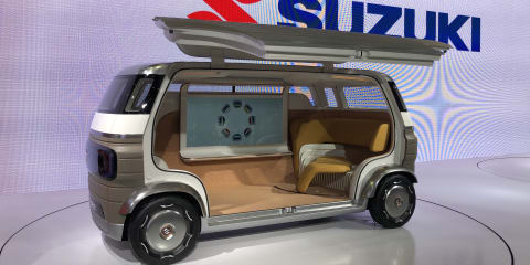 Suzuki unveils a car with no steering wheel and no driver's seat