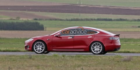 Tesla Model S: Modified EV spotted near the Nürburgring