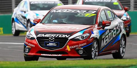 Mazda 3 celebrity challenge race proves a winner