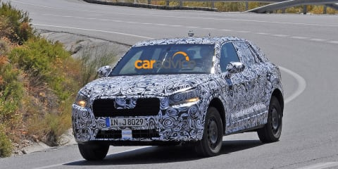 2016 Audi Q1 spied testing in production body