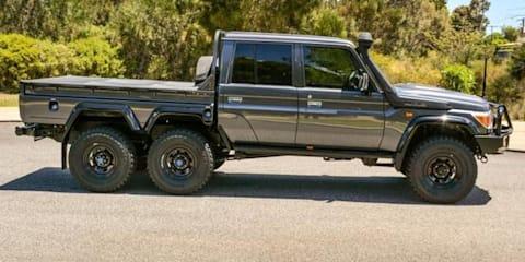 Toyota LandCruiser 79 Series six-wheeler listed for sale in Australia