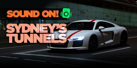 Cruising Sydney's best tunnels in the Audi R8 RWS